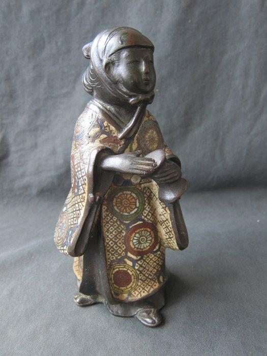 Large bronze cloissoné statue - Bronze - Japan - Meiji period (1868-1912)