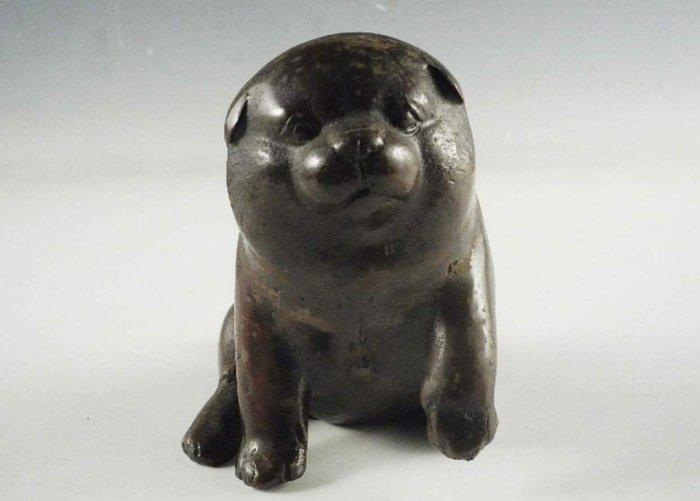 Okimono - Copper - Very cute puppy - Japan - Meiji period (1868-1912)