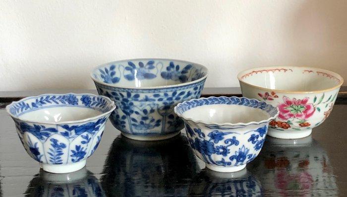 Tea cup (4) - Porcelain - China - 18th century