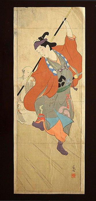 Original woodblock print - Paper - Kaburaki Kiyokata (1878-1972) - Dance performance - Japan - Meiji period (1868-1912)