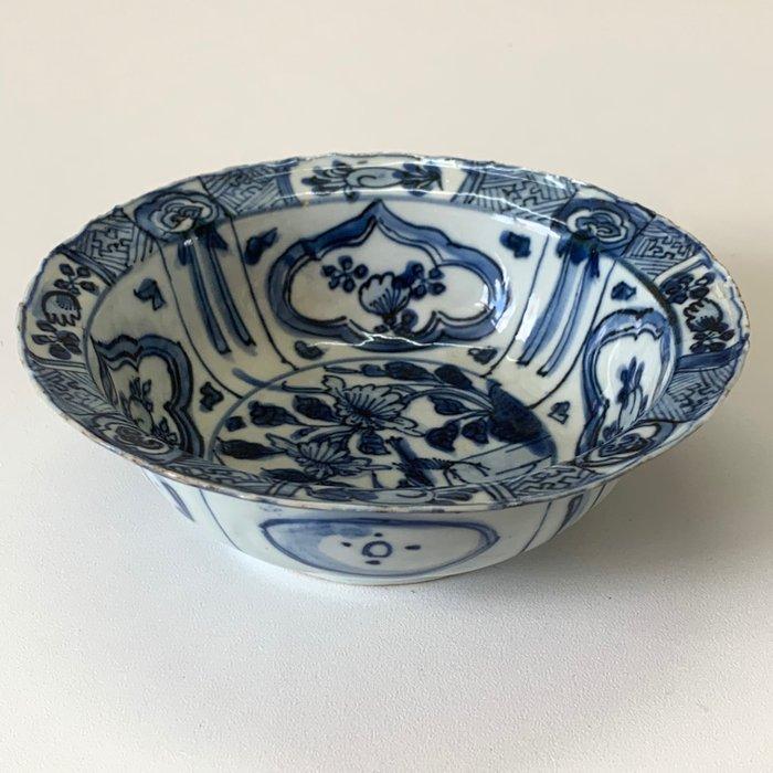 Antique Klapmuts Bowl - Porcelain - Bird, Flowers - China - 16th century