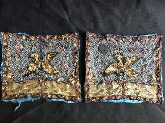 Mandarin squares (2) - Silk - China - Qing Dynasty (1644-1911)