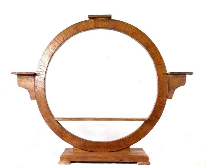 Specchio, specchiera rettangolare da terra, con cornice di finitura colore nero anticato, shabby. Aiuola Da Terra Di Design Art Deco 1930 Catawiki