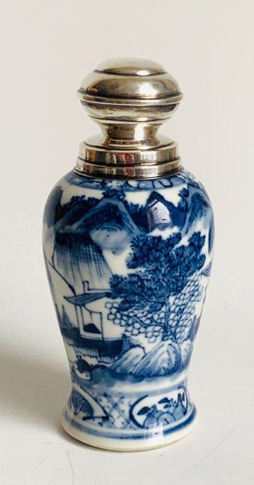 spice sprinkler - Porcelain, Silver - China - Qing Dynasty (1644-1911)