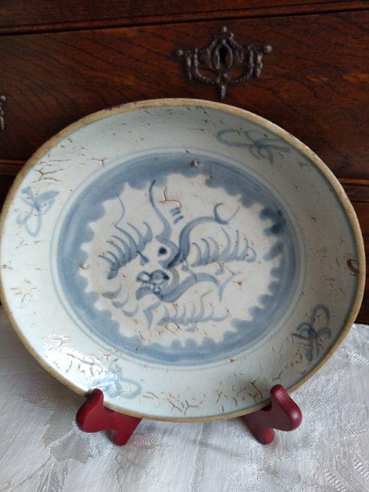 Bowl (1) - Porcelain - Dragon - Ming bowl with dragon - China - Wanli (1573-1619)