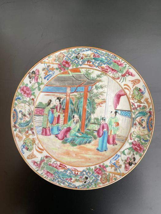 Plate - Famille rose - Porcelain - China - 19th century
