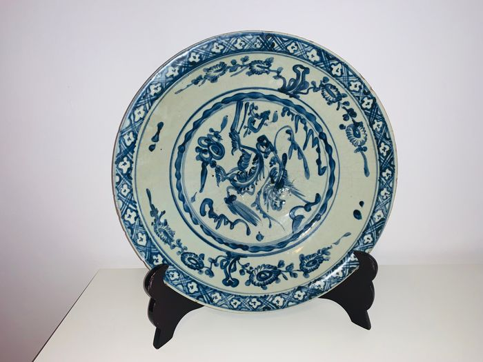 Dish (1) - Blue and white - Porcelain - China - Ming Dynasty (1368-1644)
