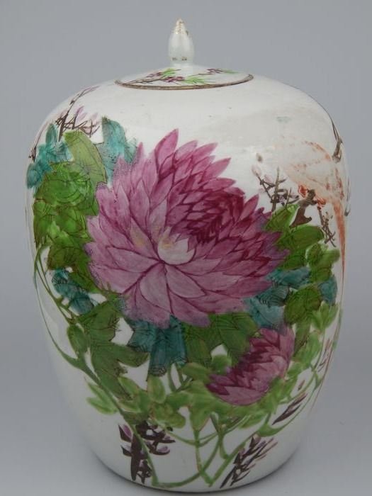 lidded jar - Porcelain - China - 19th century
