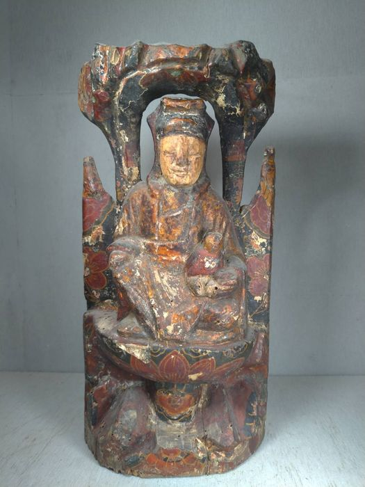 Sculpture - Wood - Child Granting Gwan Ying (清代送子觀音) - China - 19th century
