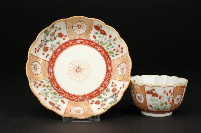 Tea set - Famille verte - Porcelain - *Kakiemon Style* - China - Kangxi (1662-1722)