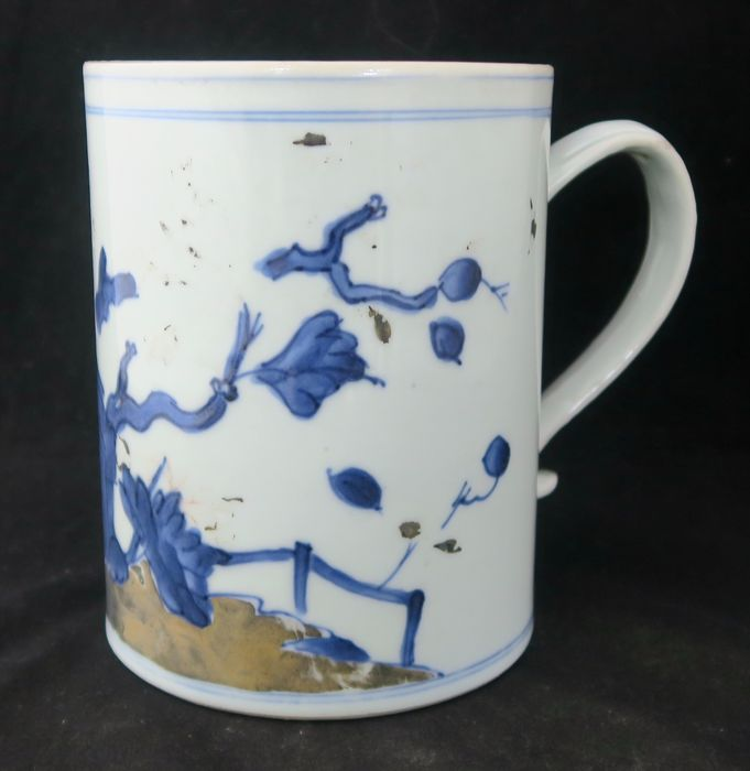 Cup (1) - Blue and white - Porcelain - AW7298 - China - Qianlong (1736-1795)