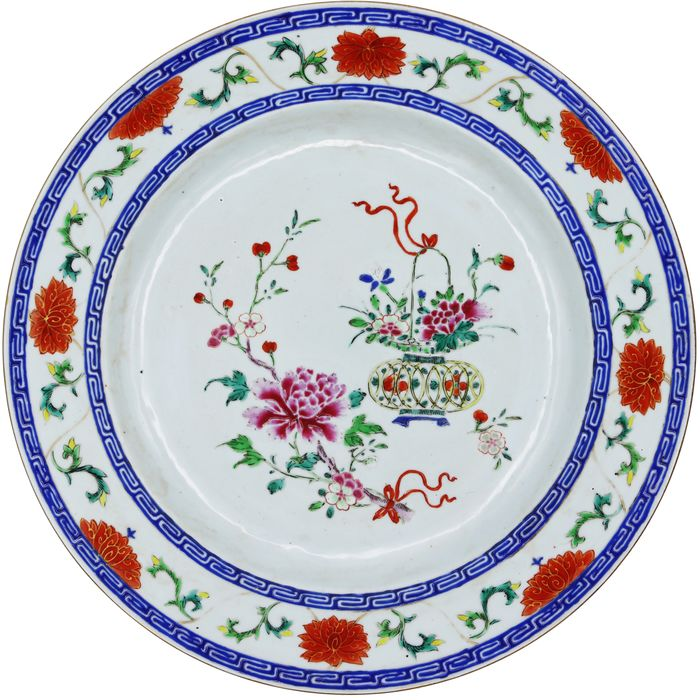 Company of India Plate - Jiaquing (1796-1820) - Porcelain - China - 18th century