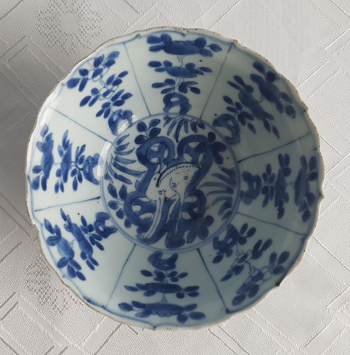 Bowl - Porcelain - Ming Wanli Reign (1573-1620), Kraak Bowl, early 17th C (1570-1610) - China - Ming Dynasty (1368-1644)