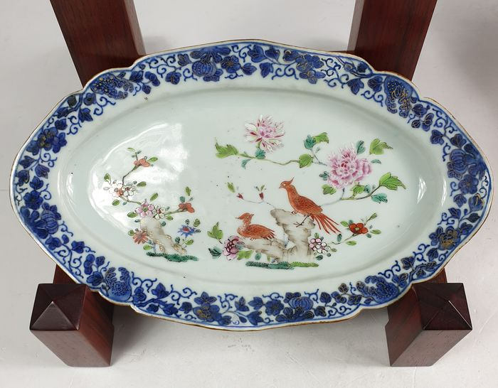 Plate, Tray - Famille rose - Porcelain - China - Qianlong (1736-1795)