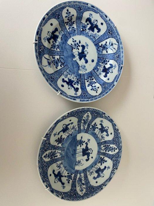 Plates (2) - Porcelain - China - 19th century