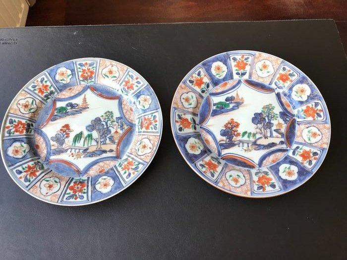 Plates (2) - Imari - Porcelain - China - 18th century