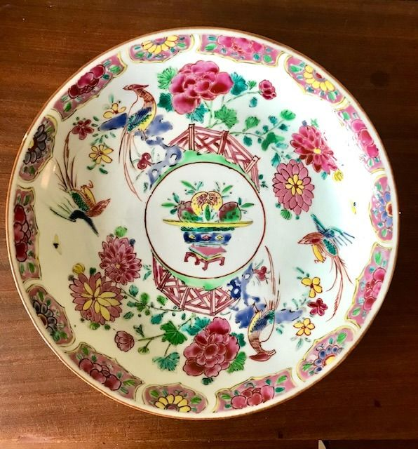 Dish - Famille rose - Porcelain - China - 18th century