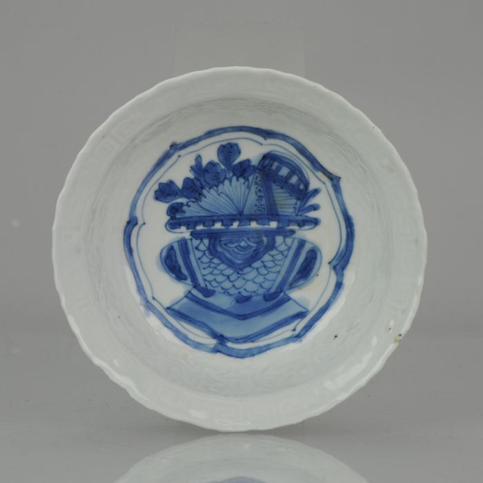Bowl - Porcelain - Kraak Flowers Incense burner Klapmuts Ming - China - Wanli (1573-1619)