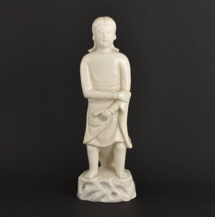 A CHINESE BLANC DE CHINE / DEHUA FIGURE OF ADAM - Porcelain - China - Kangxi (1662-1722)