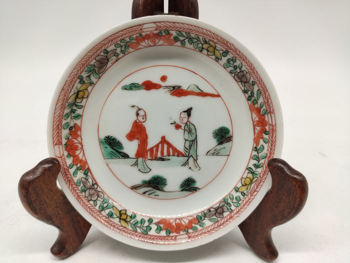 Saucer - wucai - Porcelain - character - China - Kangxi (1662-1722)