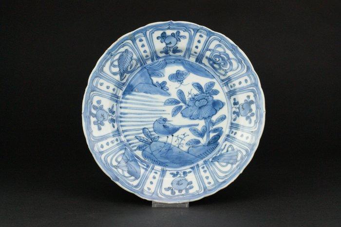 Plate - Kraak porcelain - Porcelain - Bird, Flowers - China - Wanli (1573-1619)