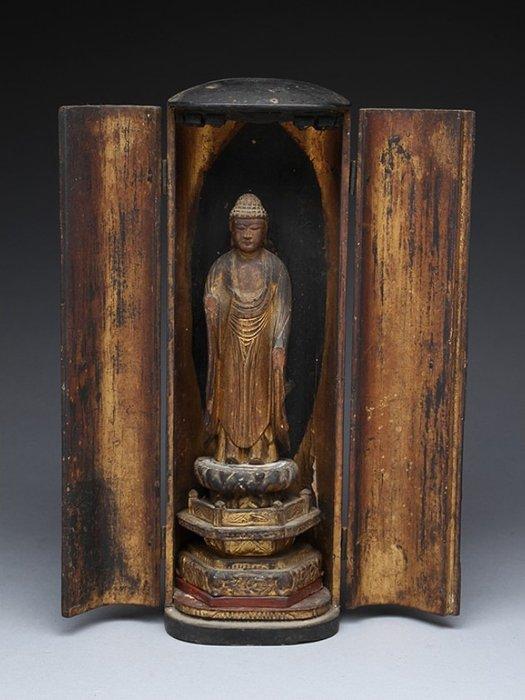 Butsudan (1) - Gold, Lacquer, Wood - very fine Amida Buddha home altar - Japan - Edo Period (1600-1868)