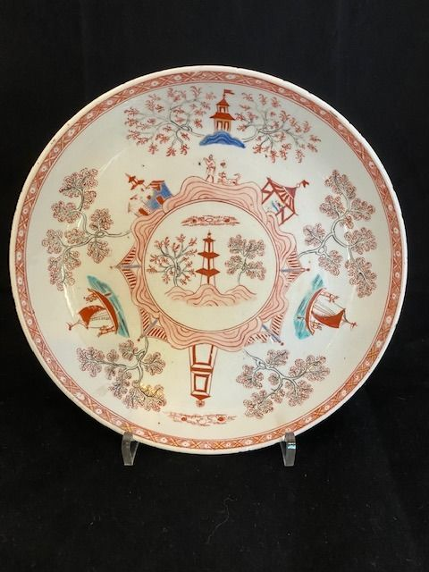 Plate (1) - Chinese export - Porcelain - Amsterdams bont - China - 18th century