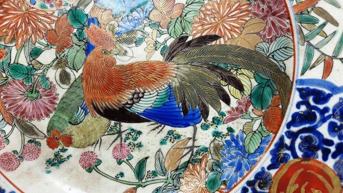 Plate - Kutani - Ceramic - Rooster - Japan - Meiji period (1868-1912)