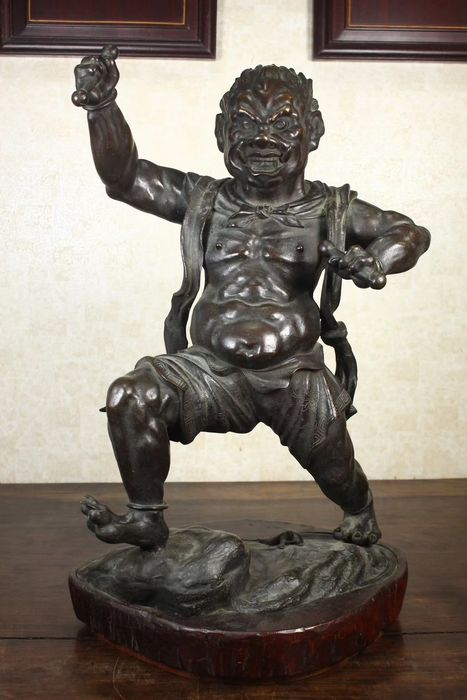 Statue of Thunder King - Bronze - Japan - Meiji period (1868-1912)