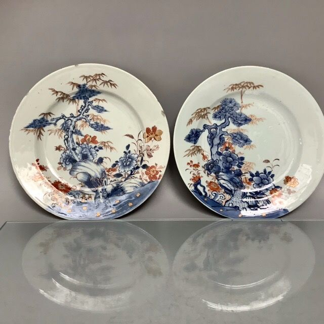 Antique Chinese porcelain Plts (2) - Imari - Porcelain - China - 18th century