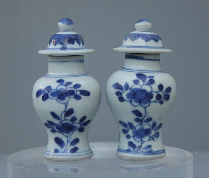 Vase (2) - Porcelain - Two Chinese Miniature Porcelain Vase - China - 18th century