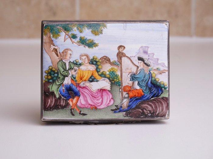 Snuff Box - Famille rose - Canton enamel - European Subject - China - Qianlong (1736-1795)