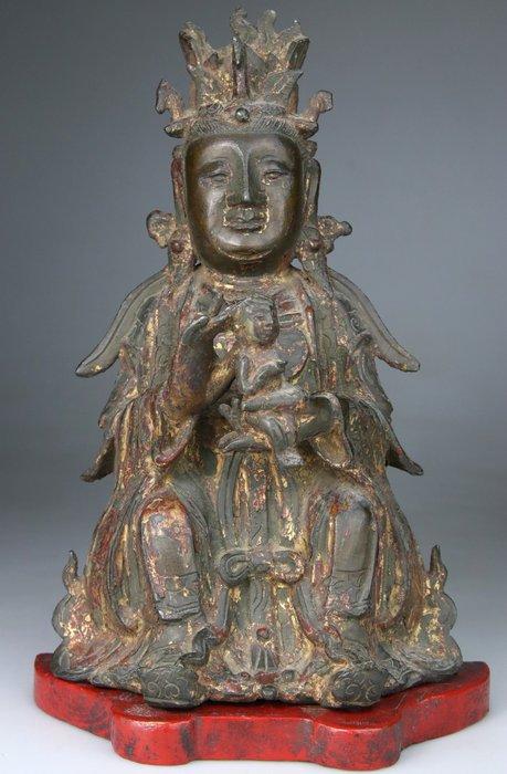 Buddha Kwanyin 17th century statue - Bronze - China - Ming Dynasty (1368-1644)