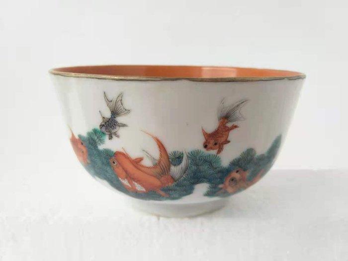 Bowl - Famille rose - Porcelain - Fish - China - Guangxu (1875-1908)