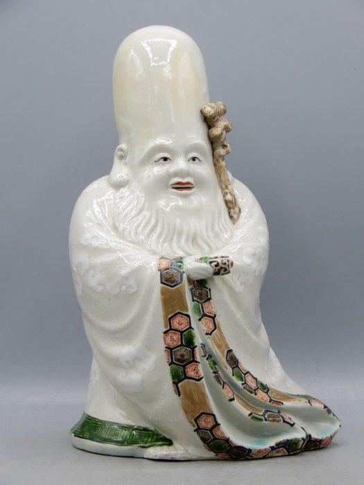 Fine scuplture of Fukurokuju - Kutani - Porcelain - Japan - Meiji period (1868-1912)