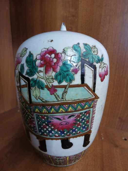 Ginger jar - Porcelain - China - Late 19th century