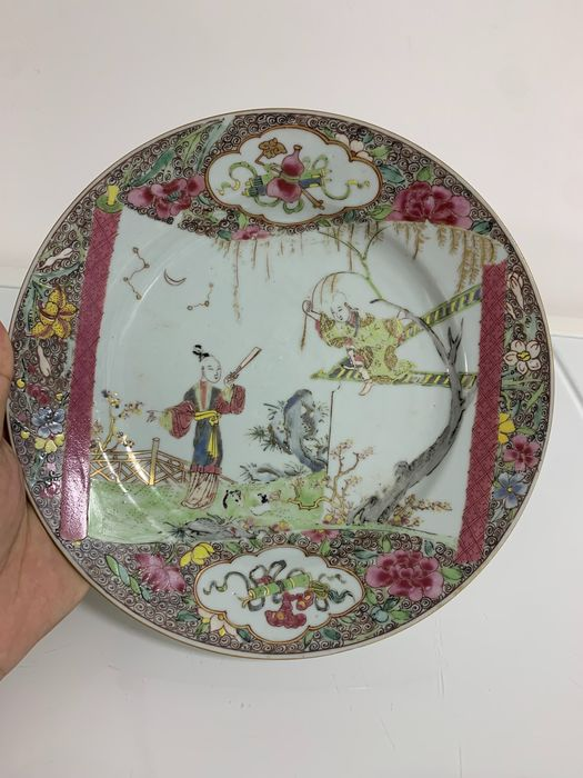 Plate - Porcelain - Romance of the Western Chamber - China - 18th century