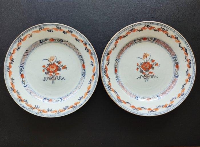 Pair of plates - Imari - Porcelain - China - 18th century