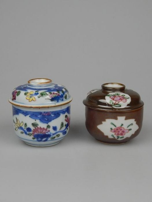 lidded jars (2) - Porcelain - China - Qianlong (1736-1795)