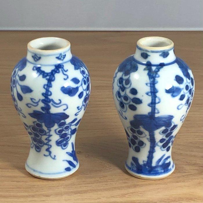 Vases (2) - Porcelain - China - Kangxi (1662-1722)