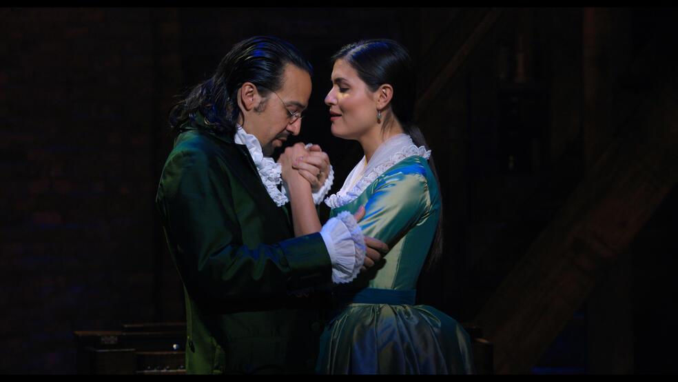 Hamilton mit Lin-Manuel Miranda und Phillipa Soo