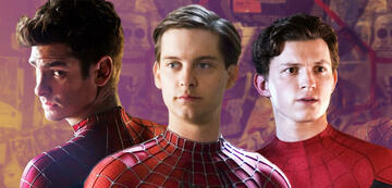 Andrew Garfield, Tobey Maguire and Tom Holland in the costume