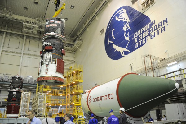 Soyuz booster rolls out for launch with space station ...