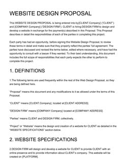 This template empowers you to communicate your web design pricing, qualifications, and terms. Free Web Design Proposal Template Customize Send In Minutes
