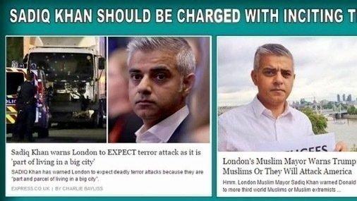 Afbeeldingsresultaat voor sadiq khan terror is part of living in city