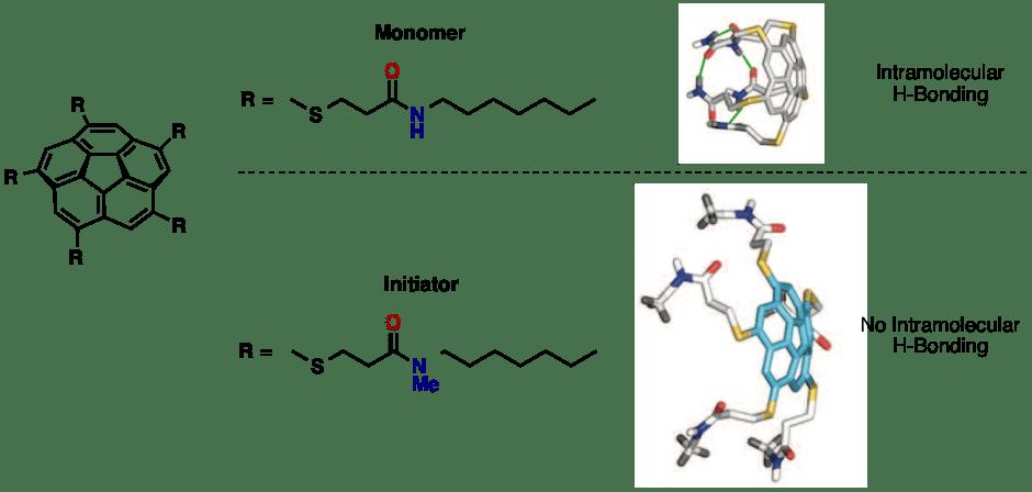 図2. 準安定モノマーと重合開始剤の分子構造