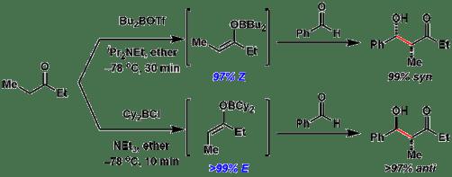 図9:ホウ素エノラートの立体制御