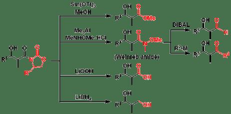 図3:キラル補助基の変換例