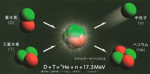 核融合反応(出典:IFE Forum)