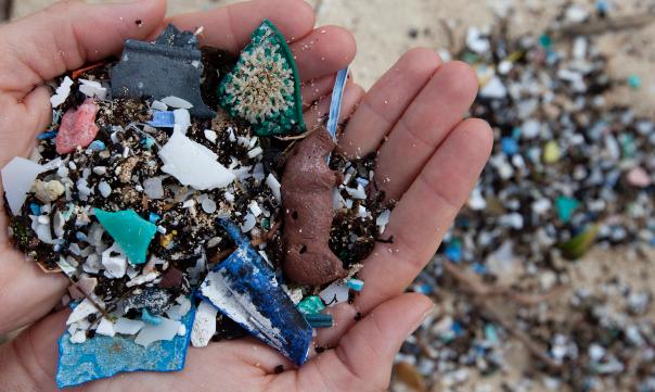プラスチック片の廃棄物